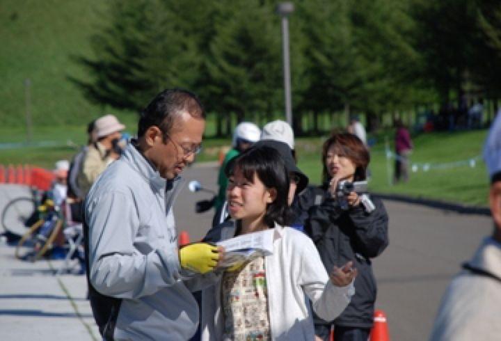 爽やかな秋の一日、札幌市民ロード